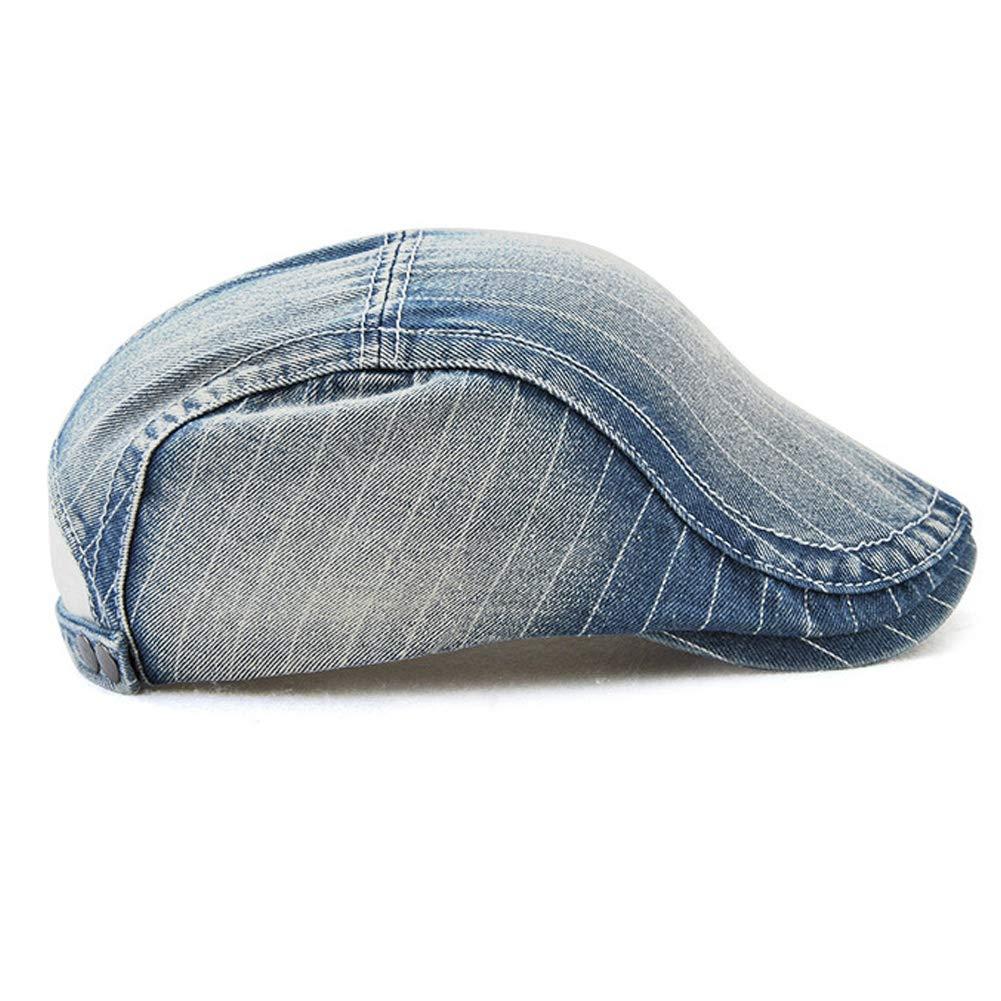 Richea Unisex Denim Newsboy Beret Cap Duckbill Ivy Cabbie Gatsby Scally Driving Hat