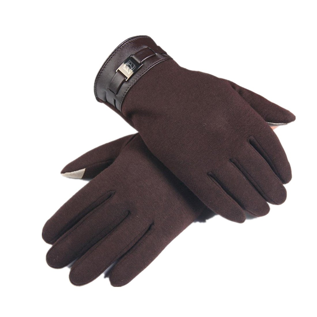 Gloves,toraway Winter Mens Full Finger Smartphone Touch Screen Cashmere Gloves (Brown)