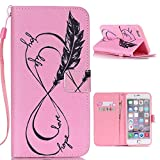 iPhone SE Case,iPhone 5S Wallet Case,YiLin [Hope Love] - [Kickstand][Wallet][Card Slot][Flip][Slim Fit][Lanyard] Premium Protective Case for iPhone 5S SE