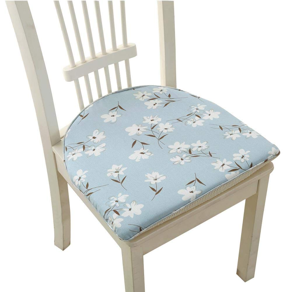 US-PopTrading Chair Cushions Seat,High-End Nordic Windsor Horseshoe Anti-Slip Cushions Cotton and Linen Washable Dinette Cushions Washable Chair Met for Office, Home, School, Cafe, Bar, Restaurant
