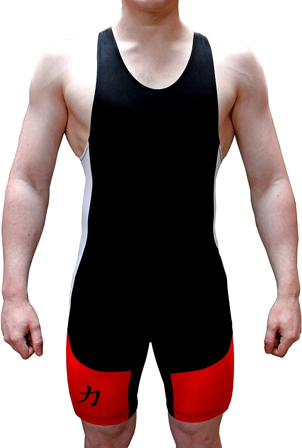 Singlet w//logo Red//White//Black IPF Approved Strength Shop Inferno