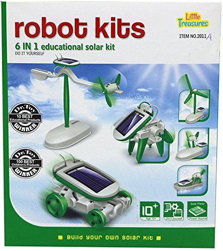 Little Treasures 6 IN 1 Educational Solar Robot Toy Kit