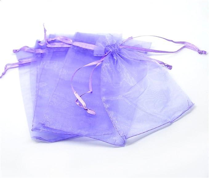 Amazon.com: 3.9 x 5.9 inch bolsas de regalo de Organza ...