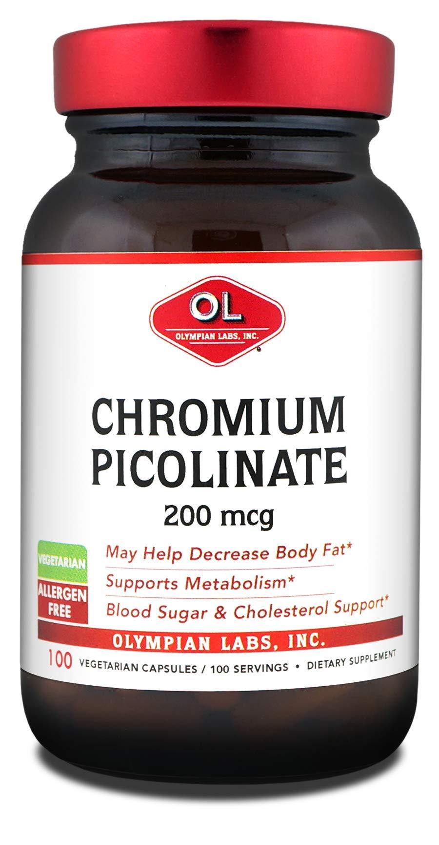 Olympian Labs Chromium Picolinate, Chromate, 200mcg by Olympian Labs