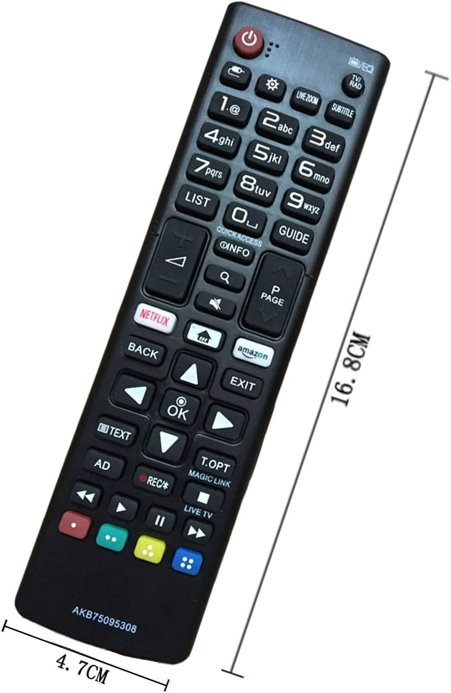 Reemplazo Mando Televisión LG AKB75095308 AKB74915324 Ajuste para Mando LG Smart TV Varios TV Ultra HD de LG con Netflix Amazon Botones: Amazon.es: Electrónica