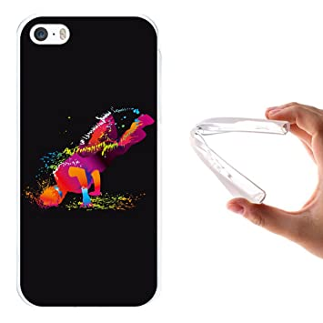 Funda iPhone SE iPhone 5 5S Silicona Gel Flexible WoowCase Animal