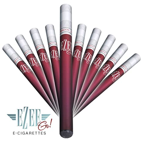 Ezee Go Disposable E-Cigarette | Tobacco Flavour | Electronic Shisha |  Nicotine-Free | Vaporizer Pen with up to 400 puffs | Pack of 10