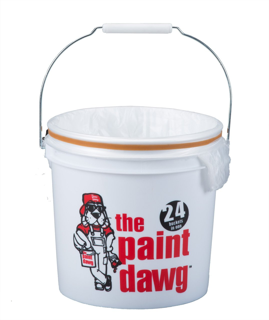 Dripless 2-Gallon Paint Dawg Paint Bucket with 24 Liners by Dripless