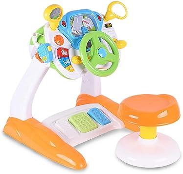 Desarrollo de Habilidades motoras Mesa de Juego para niños Volante Mesa de Estudio de conducción Mesa de Juguete Multifuncional Juguetes educativos para niños Dar a los niños: Amazon.es: Juguetes y juegos