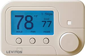 Leviton RC-2000WH Omnistat2 Multistage & Heat Pump with Humidity Control Thermostat, White