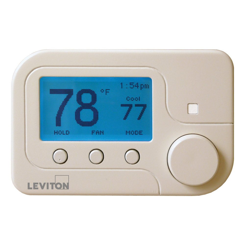 Leviton RC-1000WH Omnistat2 Conventional & Heat Pump Thermostat, White