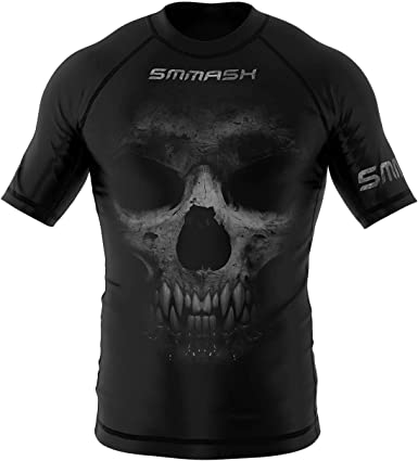 SMMASH Reaper Rashguard Hombre Manga Corta, Camisetas