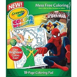 Crayola color wonder coloring pad spiderman for Crayola ultimate spiderman mini coloring pages