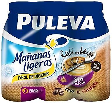 Puleva Mañanas Ligeras Café con Leche sin Lactosa - Pack de 6 x 1 L: Amazon.es: Alimentación y bebidas