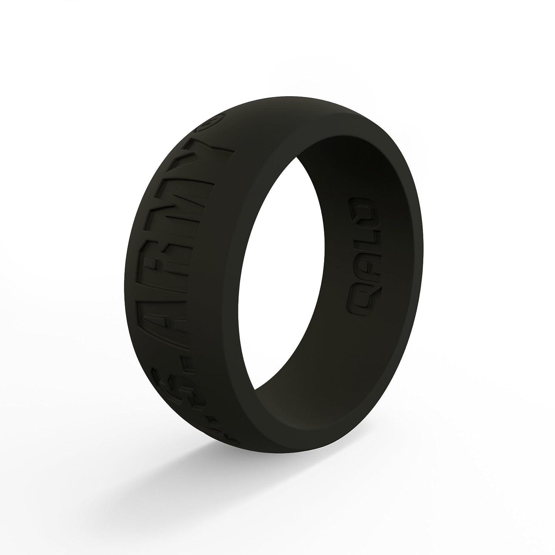 消費税無し QALO-メンズシリコンリング(品質は 12、陸上競技、愛とアウトドア)は16-25のサイズを B076SRP4JW Black Q2X Army Black - Silicone Silicone Ring 12 12|Q2X Army Black - Silicone Ring, 中川町:83ed9805 --- arianechie.dominiotemporario.com