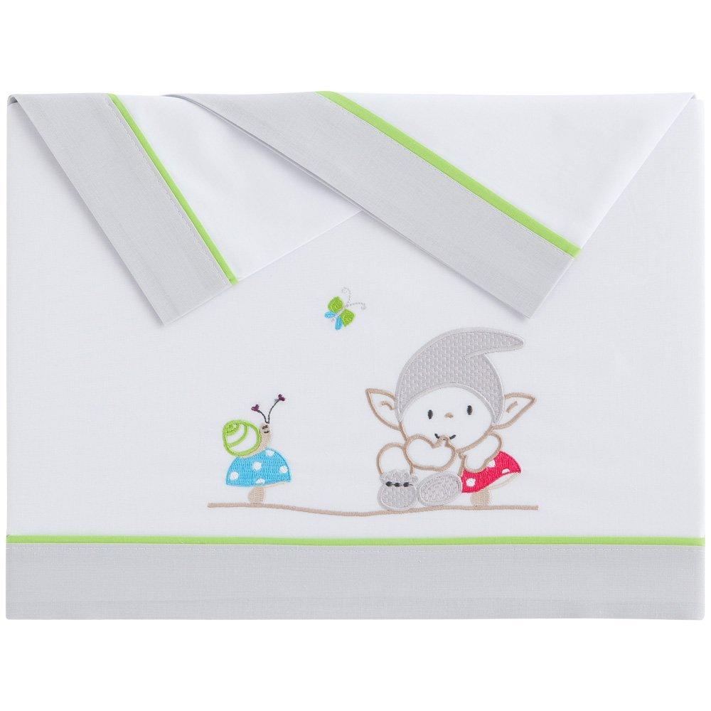 Tríptico sábanas algodón minicuna (50x80 cm) DUENDE Unico: Amazon ...