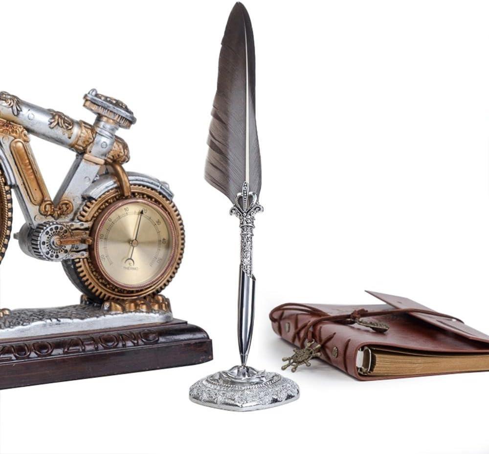 Aolvo Kalligraphie-Stift-Set im europ/äischen Stil Quil Pen Dip Feather F/üllfederhalter Antik Pen Set Box mit 5 Extra Federn St/änder Tinte Flasche seeblau Stempel Wachs