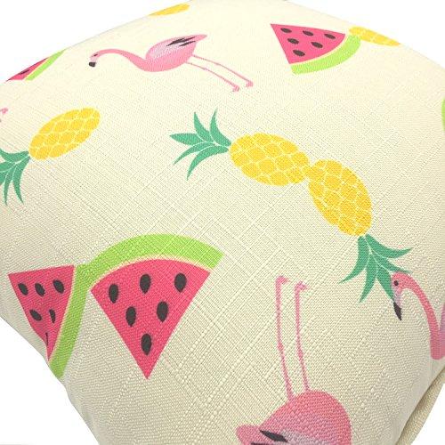 YOUR SMILE- Flamingo Cotton Linen Throw Pillow Case Decorative 18 x 18
