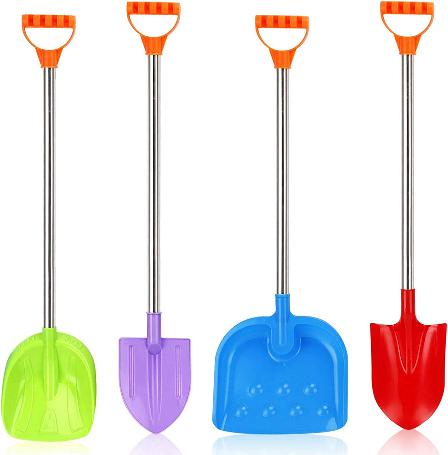 Beach Shovels Heavy Duty Kids Plastic Beach Shovel Tool Kit 25 Inch Sand Shovels for Kids Shovel Toys for Toddlers with Handle for Digging Sand Beach Fun Gift Twin Set Bundle 2 Pack