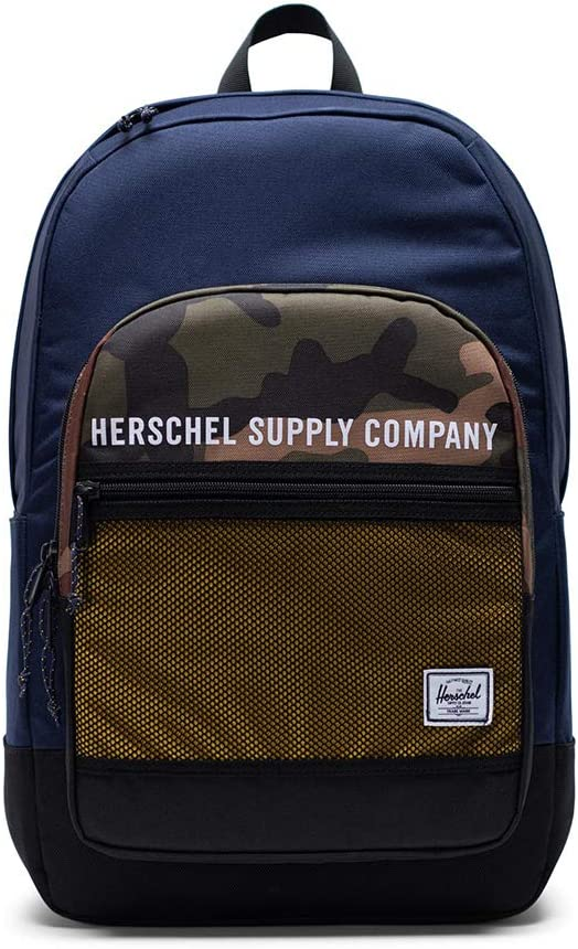 Herschel High quality new Supply Co. Kaine Peacoat Lemon Woodland outlet One Chrome Camo