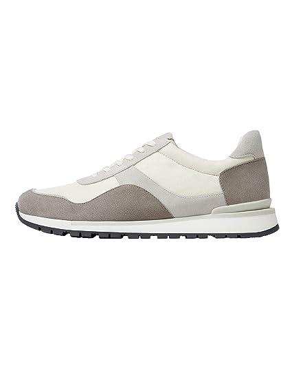 Massimo Dutti - Zapatillas para Hombre Blanco Blanco, Color Blanco, Talla 41.5: Amazon.es: Zapatos y complementos