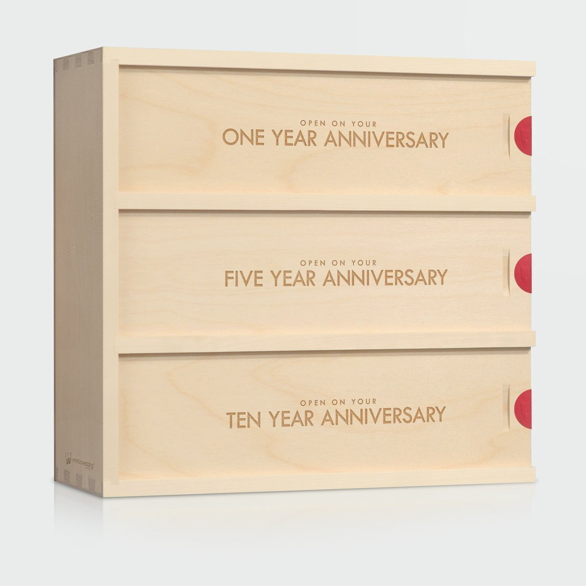 Anniversary Wine Box - Classic Trio // Wedding Gift for the Couple // Wedding Wine Box // WineforaWedding®