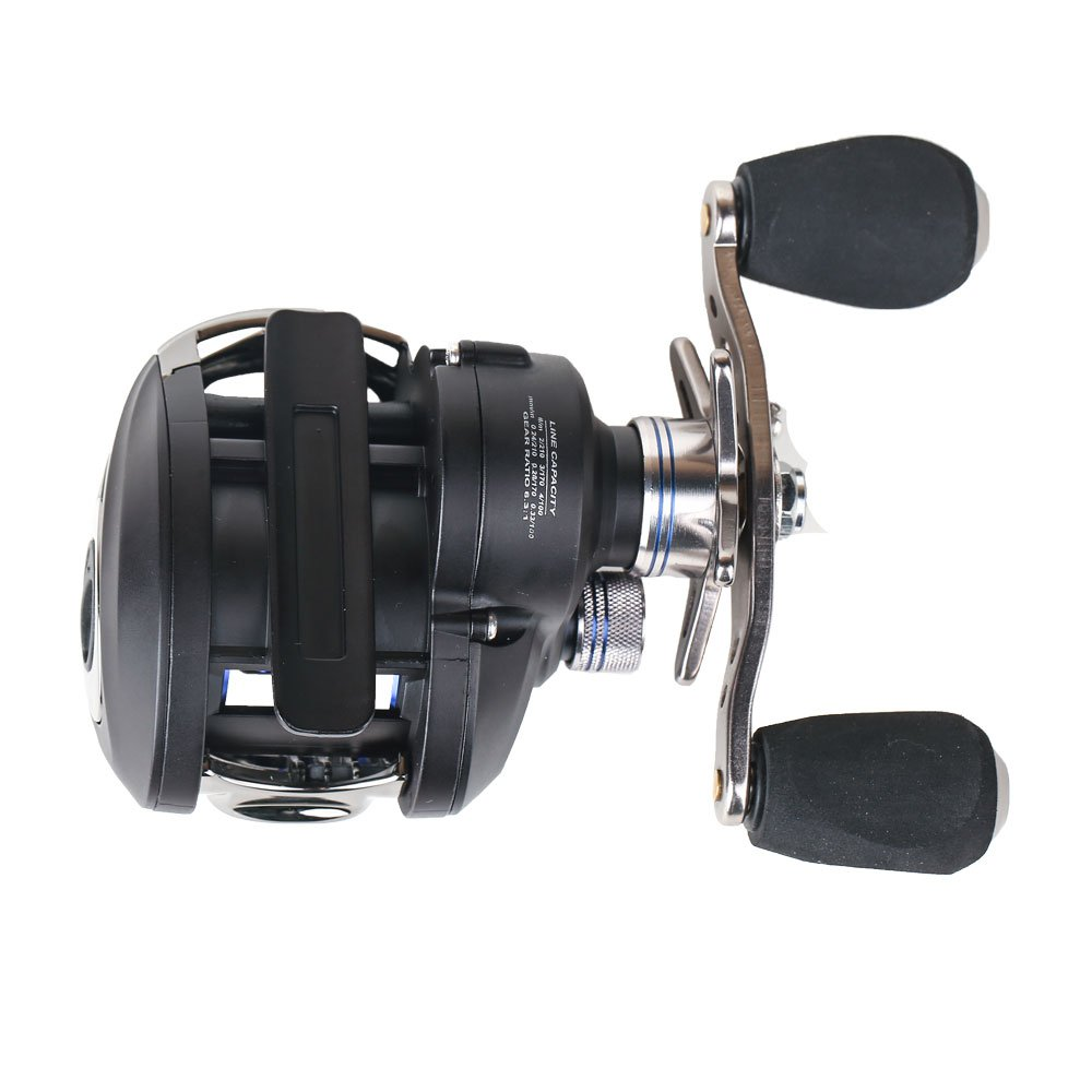Entsport Classic Casting Reel Saltwater Low Profile Baitcasting Fishing Reel 10 1 Ball Bearings Baitcast Reel Baitcaster Fishing Reel Baitcaster Magnetic Braking System Baitcasting Reel