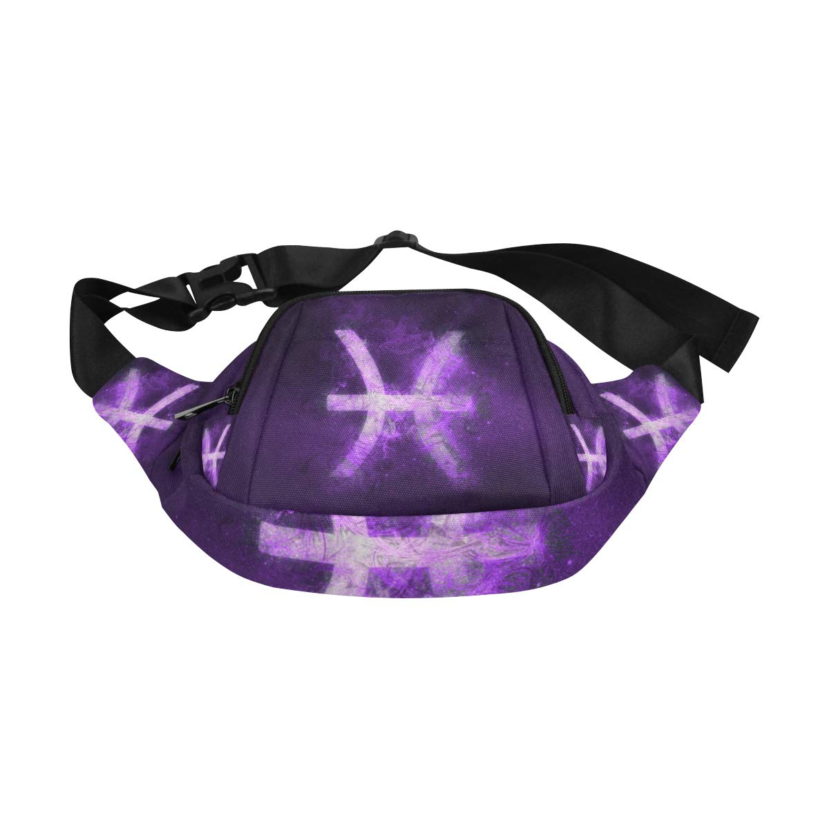 Zodiac Zodiac Sign Pisces Fenny Packs Waist Bags Adjustable Belt Waterproof Nylon Travel Running Sport Vacation Party For Men Women Boys Girls Kids
