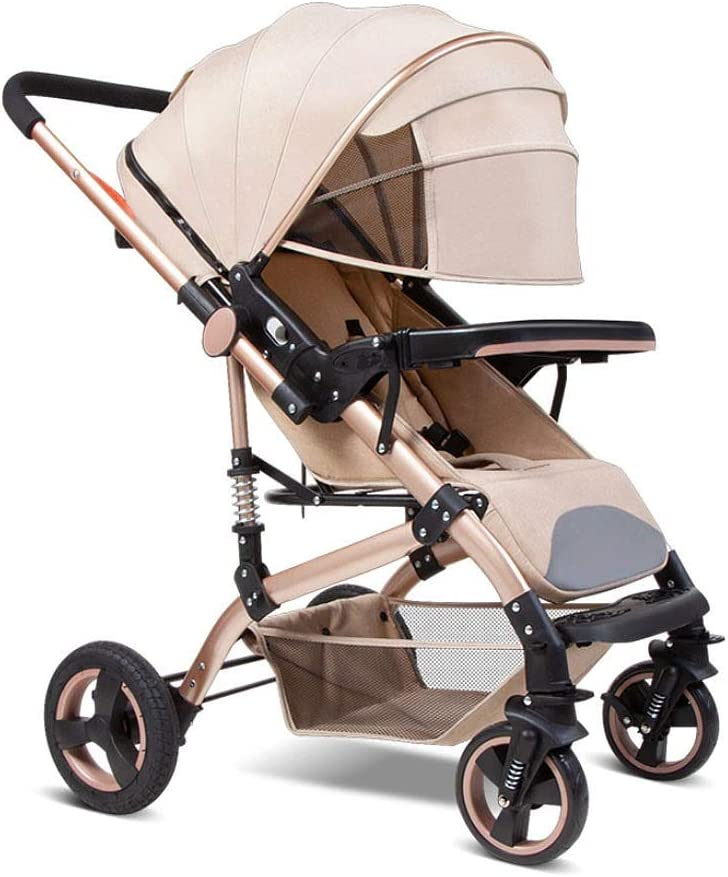 Rosa Color : Brown Carrito Carros de Bebe Cochecito Ligera para Ni/ño de 6 Meses hasta 25 kg H057ZJ Silla de Paseo Plegable Compacta