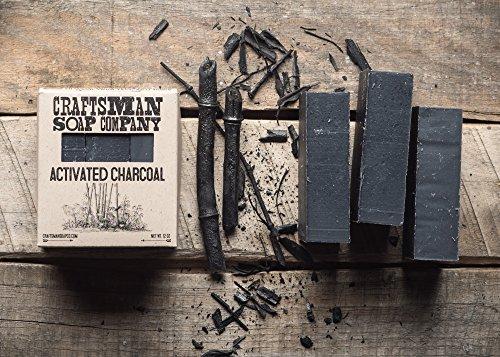 Craftsman Soap Company Bar Soap (Activated Charcoal, 3 Bars)
