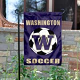 Washington Huskies Soccer Garden Flag and Yard Banner