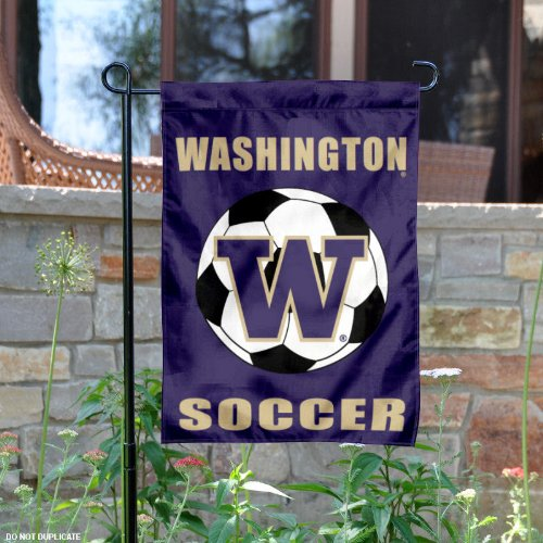 Washington Huskies Soccer Garden Flag and Yard Banner by College Flags and Banners Co.