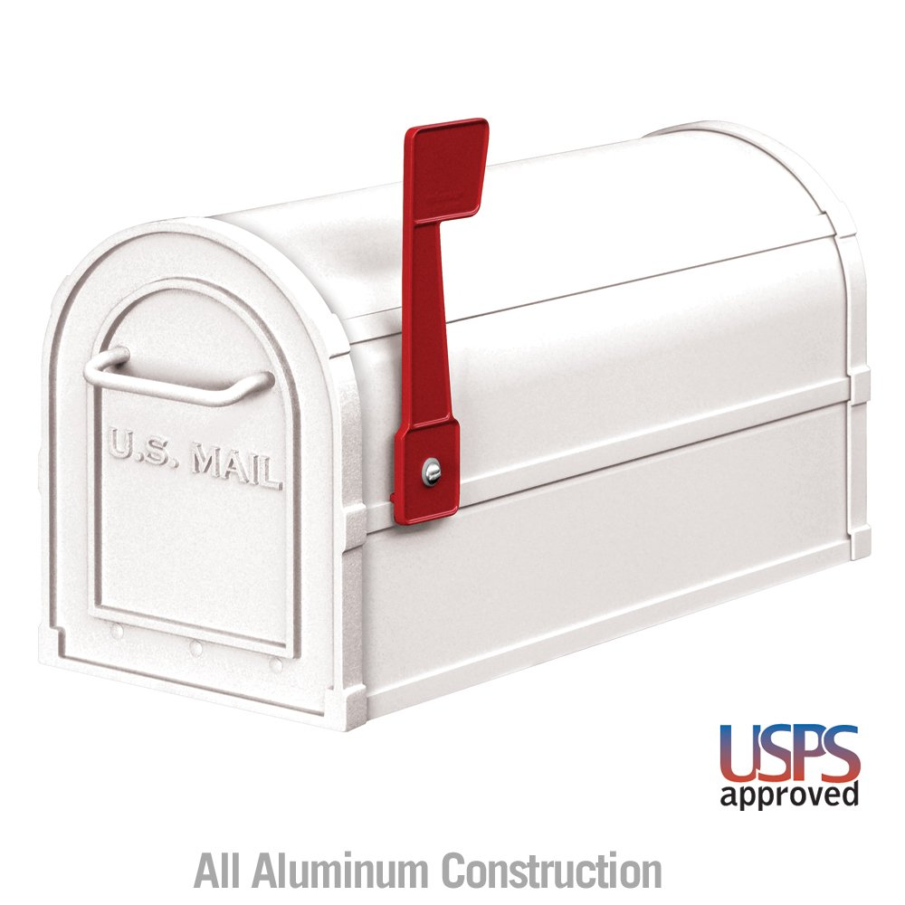 Salsbury Industries 4850WHT Heavy Duty Rural Mailbox, White - Wall Mounted Mailboxes - Amazon.com