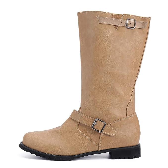 Casual Planas Zapatos Botas Altas para Mujer Botas Altas para Mujer Botas de Invierno para Mujer