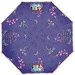 Ombrello delle Principesse Disney per Bambine con Fodera, Pieghevole, Apertura Manuale diametro 91 cm