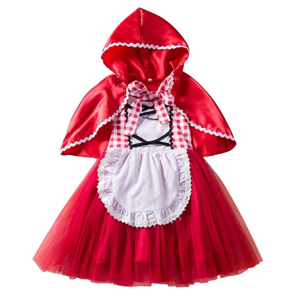 Girl Fancy Dress Cape Kids Hooded Cloak Halloween Christmas Fairytale Dress up