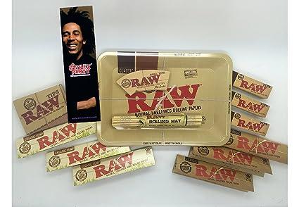 RAW Kit de Fumar rizlas Rolling Bandeja Roach