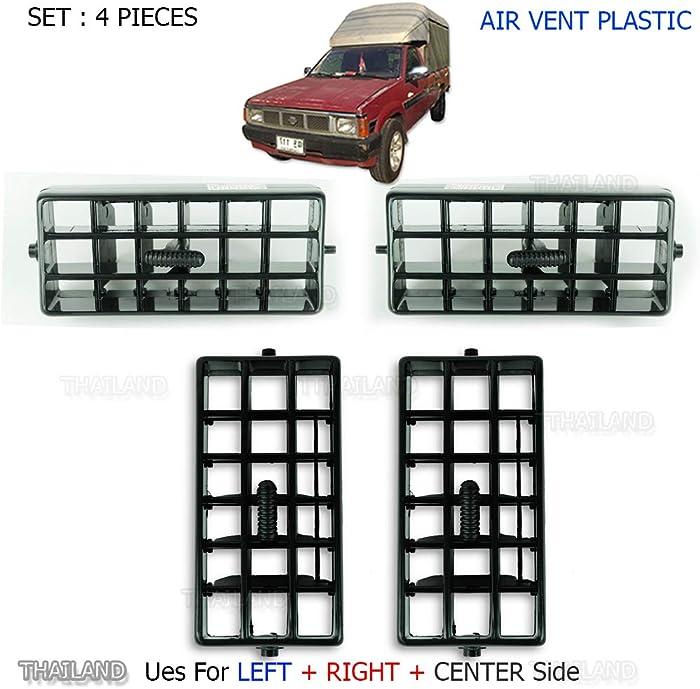 Powerwarauto Set Air Vent Heater Ventilator Grille For Nissan Navara D21 Big-M Big M Hardbody Pick-Up Truck 1986 1990 1991-1997