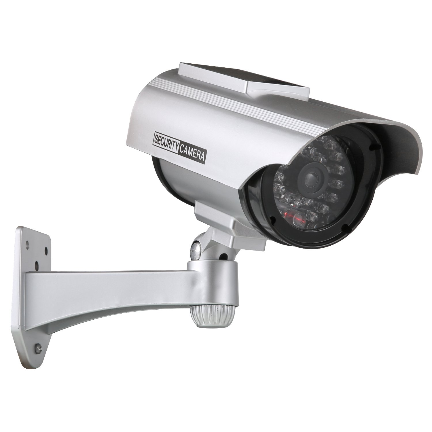 ANNKE Solar Powered Dummy Fake Security Camera with Flashing Red LED for Indoor and Outdoor use, IP56 Weatherproof