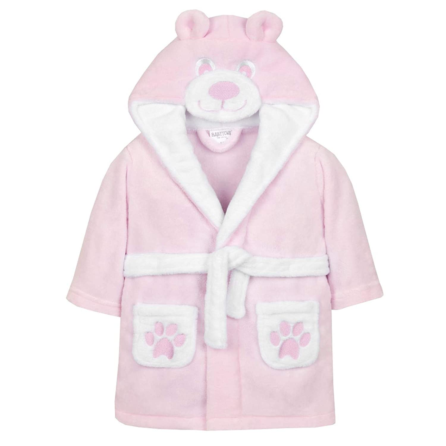c1460d9489dea Baby Dressing Gown from 6 Months to 18 Months Boy or Girl (Pink Teddy Face,  18-24 Months): Amazon.ca: Clothing & Accessories