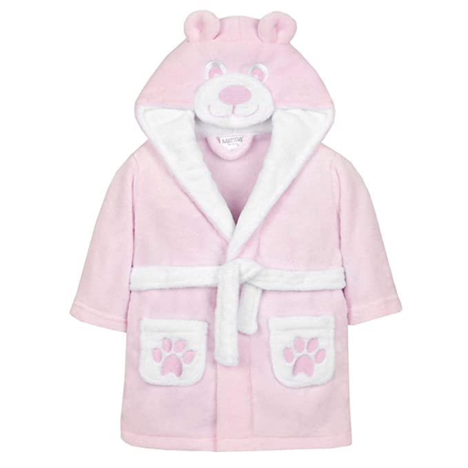 02b9bfaeaf616 Baby Dressing Gown from 6 Months to 18 Months Boy or Girl (Pink Teddy Face