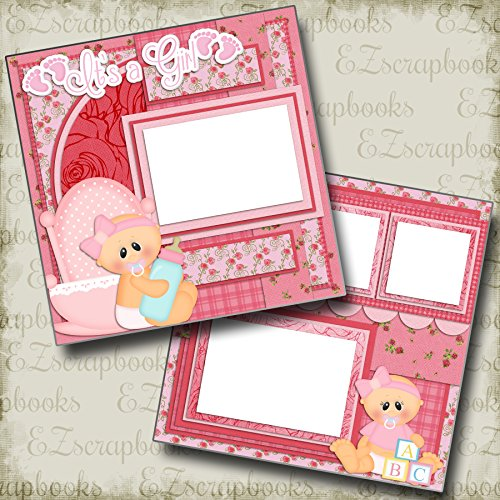 BABY GIRL - Premade Scrapbook Pages - EZ Layout 422 ()