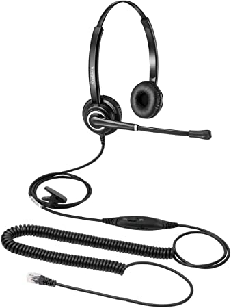 Amazon Com Beebang Office Headset With Noise Cancelling Microphone For Business Call W Mic Mute Volume Control Telephone Headset Work For Yealink T19 T21 T24 T23 T29 T32 T36 T40 T41 T42 Grandstream Office