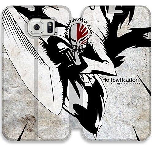 Funda Samsung Galaxy S6 Edge Funda de cuero [Buen regalo bonito regalo] [Bleach Background Image Tablet Kosb] [Card/Cash Slots] Protectora caja del teléfono para Samsung Galaxy S6 Edge N5G7RU