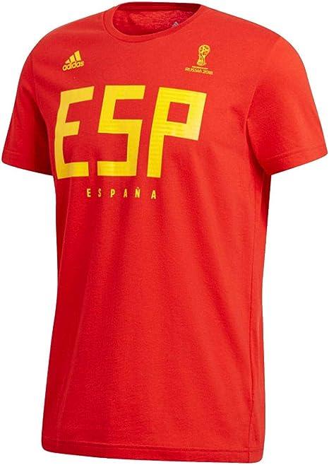 adidas – Camiseta de fútbol España tee, Hombre, Spain tee, Rojo ...