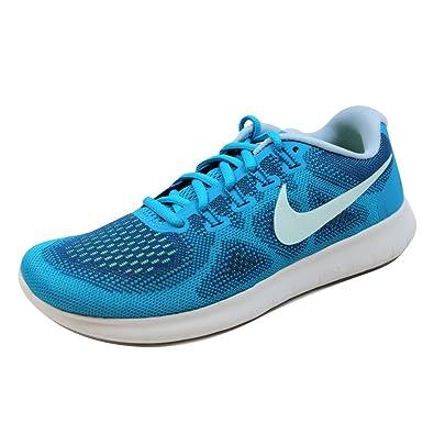 pretty nice 3b080 0e033 Nike Women s Free RN Running Shoe (6.5 M US, GymBlue GlacierBlue BlueOrbit