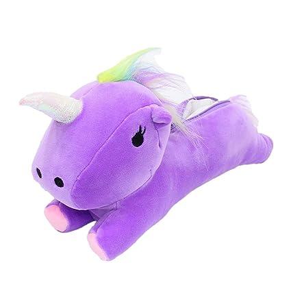FUYAO - Estuche de unicornio de peluche para estudiantes, papelería escolar, soporte para bolígrafos
