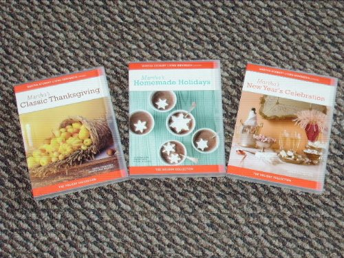 Martha Stewart Holiday Collection: Classic Thanksgiving / Homemade Holidays / New Year's Celebration