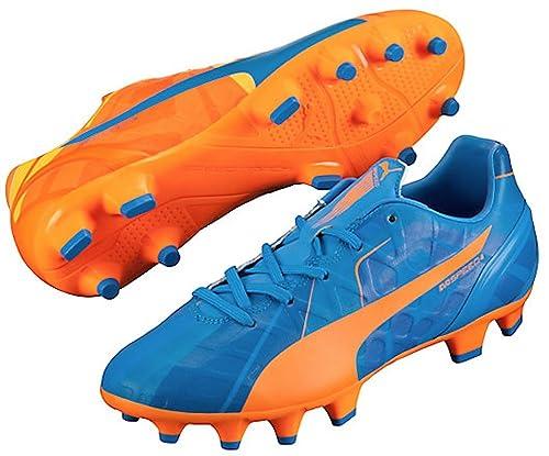 1d9c79e5dd71 PUMA Jr Evospeed 4 H2H FG Soccer Cleats (Orange Clown Fish Electric Blue  Lemonade