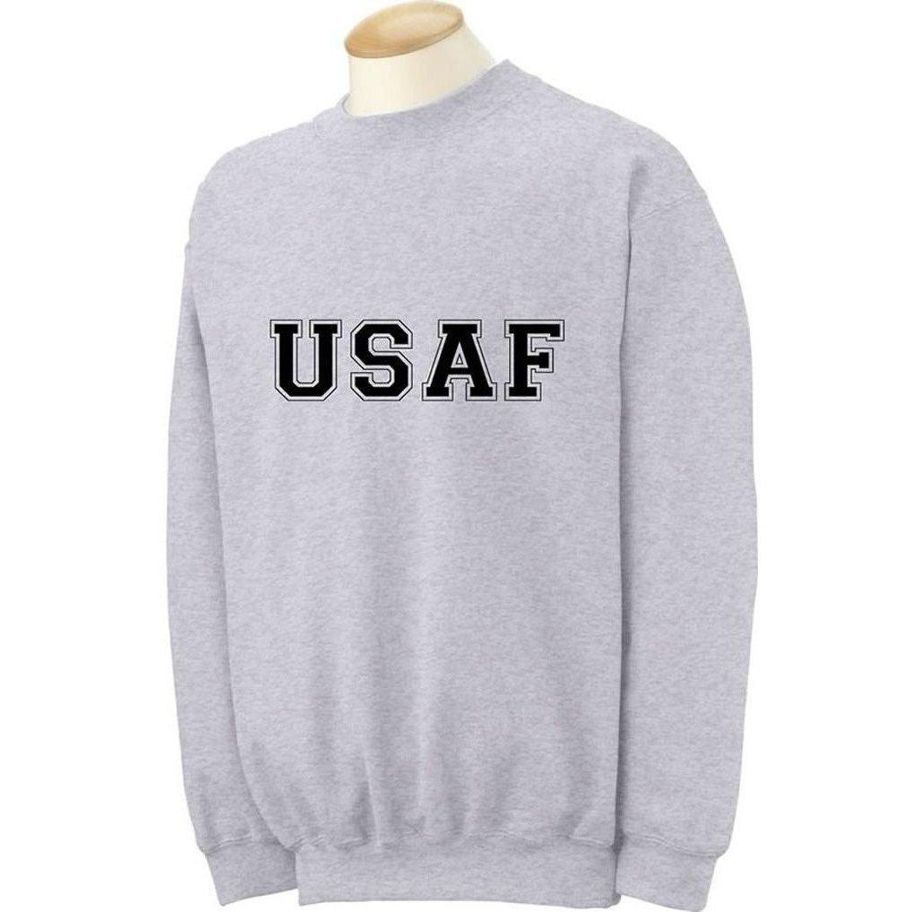 USAF Air Force Crewneck Sweatshirt in Gray PA-1046